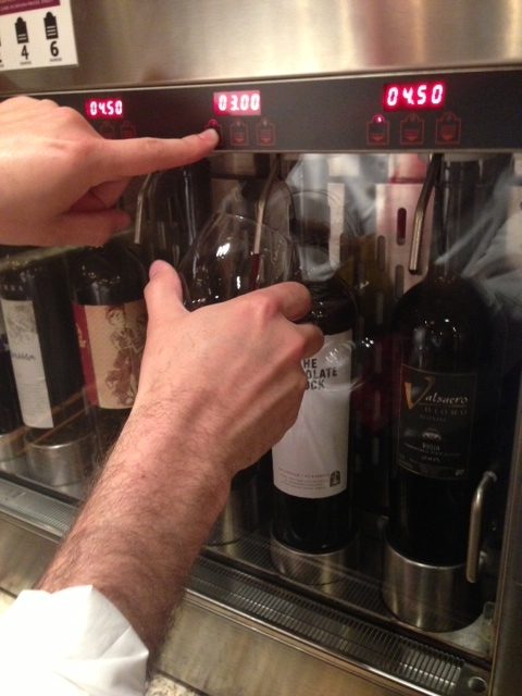 The self-serve kiosk allows you to decide how large of a pour you want